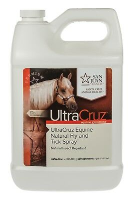 UltraCruz Equine Natural Fly and Tick Spray for Horses 1 gallon refill