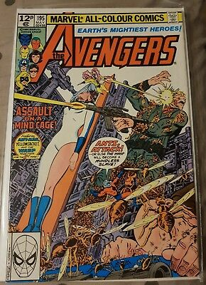 The AVENGERS #195 1st Taskmaster cameo. 1st ANTMAN AND WASP together. Free Post