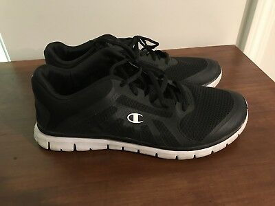 dc380987d Champion Sneakers Women s 9.5 (9 1 2) Tennis Shoes Black and White Foam