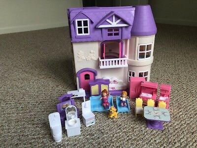 You & Me Happy Together Dollhouse Lights Sound Works Purple Toys R Us