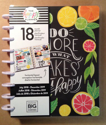 "NEW DESIGN! 2018-2019 Happy Planner CLASSIC ""ENJOY ALL THE THINGS"" *Horizontal*"