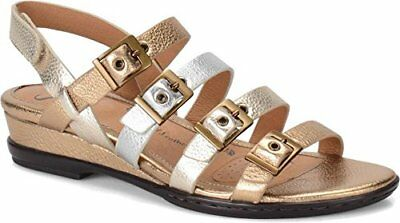597196afb19 New SOFFT Women s Sapphire Leather Open Toe Casual Slingback Low Sandals sz  ...