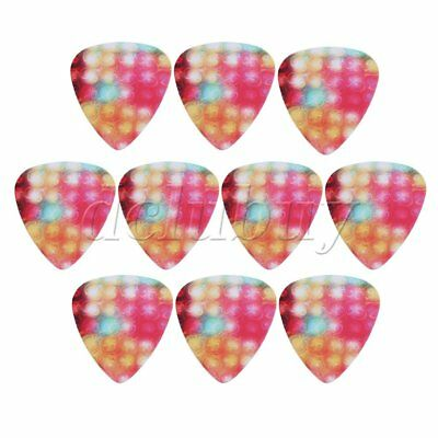 Plastic Guitar Picks Mini Mutil-color 0.46mm Thickness Set of 10