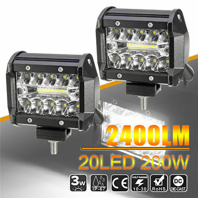 "4"" LED Work Light Bar Flood Spot Combo Off-road Driving Fog Lamp Truck Boat SUV"