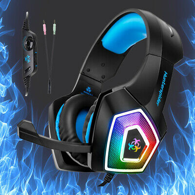 3.5mm Stereo Computer Gaming Headset LED Headphones Mic For XBOX ONE/PC PS4/iPad