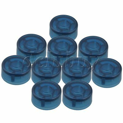 10x Blue Electric Guitar Effects Accessories Stomp Switch Pedal Cap