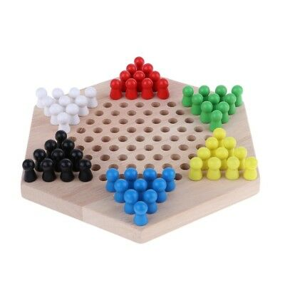 1 x Chinese Checkers Family Game Set with Wooden Chessboard and Chess Pieces