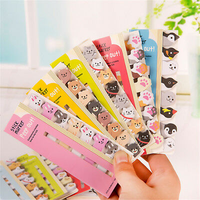 Cute Kawaii Animal Sticker Bookmark It Marker Memo Index Tab Sticky Post Notes