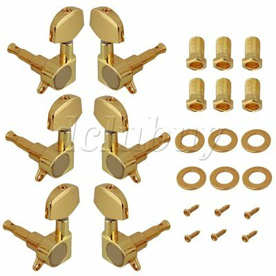 1 set of 6 Electric Acoustic Guitar Machine Heads Tuners Gold