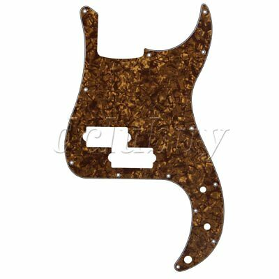 PB Electric Bass Guitar Scratch Plate Pickguard Bronze Pearl 3 Ply 13 Holes