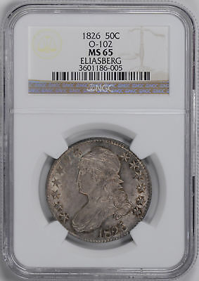 1826 Capped Bust 50C Ngc Ms 65