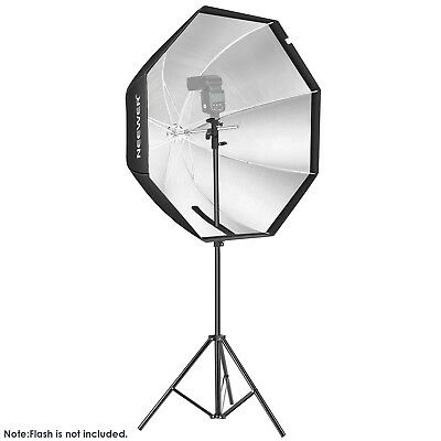 """Neewer Photo Octagon Softbox 32"""" with 75"""" Light Stand and Type E Flash Holder"""