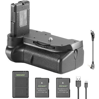 Neewer Battery Grip with 2 Battery 1 Dual Charger for Nikon D5100 D5200 D5300