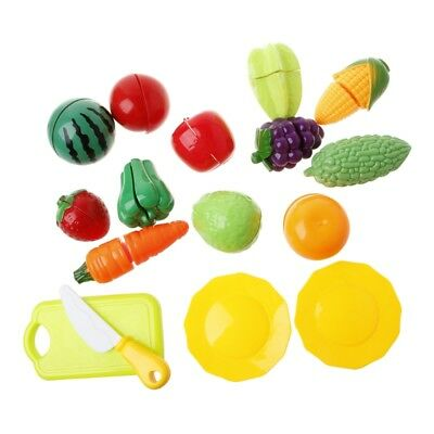 16Pcs Pretend Role Play Kitchen Fruit Vegetable Food Toy Cutting Set Child Gift