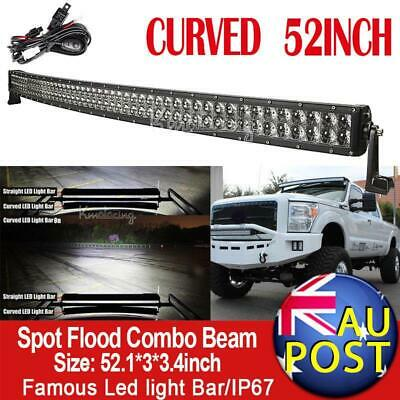 """CURVED 52""""INCH 1000W 4D PHILIPS LED Work Light Bar Offroad Truck SUV Jeep 50"""""""