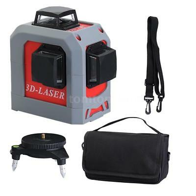 Mini 360 Degree 3D Self-leveling Laser Level 12 Line Vertical & Horizontal H8I4