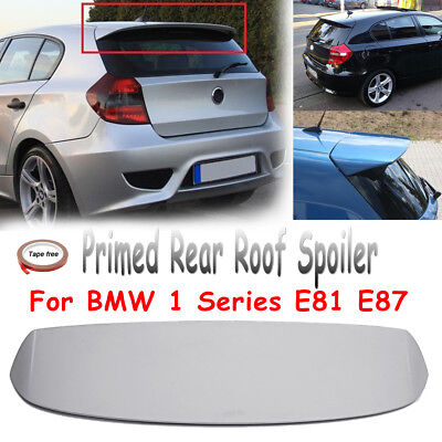 For BMW 1 Series E81 E87 Unpainted Primed Grey Rear Roof Trunk Spoiler Wing FRP