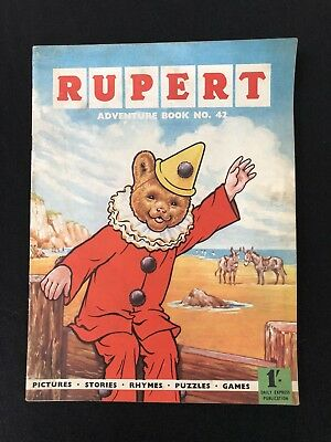 Vintage Original Rupert Adventure Book No 42 Dated 1960