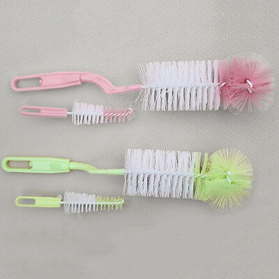 Baby Kids Bottle Cleaning Brush Milk Nipple Teapot Nozzle Spout Tube Teat