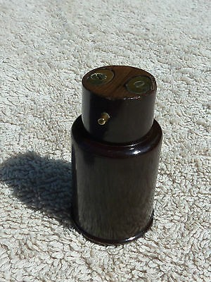 Vintage Brown Bakelite Light Socket Adaptor For 2 Pin Plug 1950's Used Cond Old