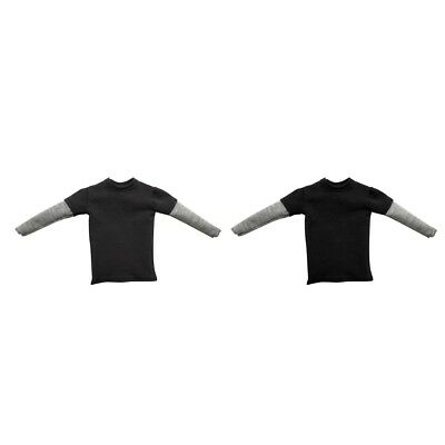 2pcs 1/6 Clothes T-shirt for 12 inch Hot Toys Sideshow Enterbay Male Figures