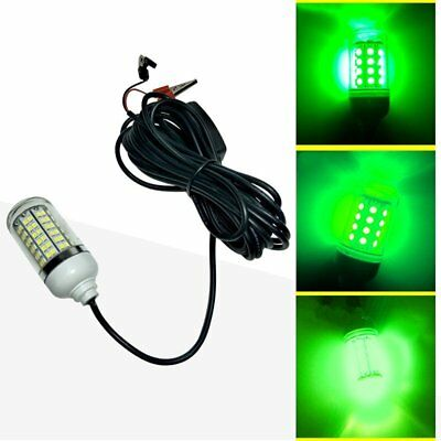 1PC LED Green Underwater Submersible Night Fishing Light Crappie Shad Squid Boat