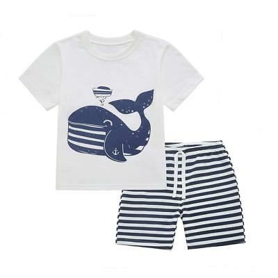 Dailybella Baby Boys Short Sleeve T-Shirts Shorts Set 2 Piece Cute Animal