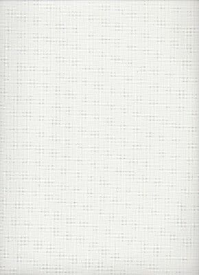 18 count Zweigart Twist Canvas White - 50 x 50 cms