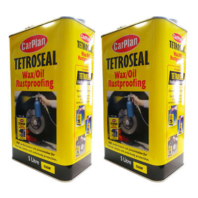 (Pack Of 2) CarPlan Tetroseal Wax Oil Rustproof Underbody Protector Clear Waxoyl