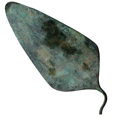 Late Bronze Age Circa 1500-1000 Bc Greek Bronze Spear Head -Intact