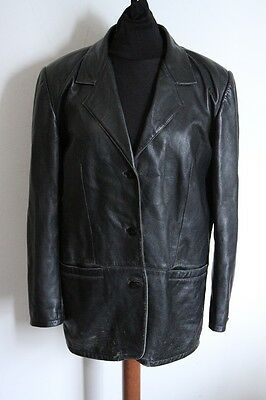 CONBIPEL GIACCA GIUBBOTTO pelle giaccone leather jacket 42 E875 ... 65f2184a210a