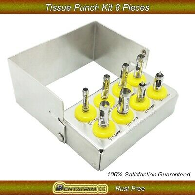 Dental Implant Tissue Punch Kit 8 Pcs Surgical Instruments Tool With Holder New