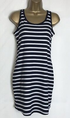 Next Navy Stripe Stretch Jersey Maternity Vest Tunic Top 10 - 20 New (n-38s) D