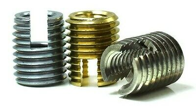 Slotted Self Tapping Threaded Inserts Metric Screw In M3 M4 M5 M6 Zinc Brass A1