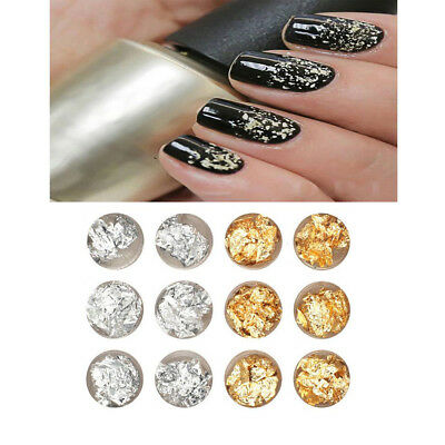 Nail Art Foil Sticker Mixed Colors Gold Sliver 3D Nails Decoration Cosmetics