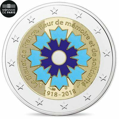 [#482696] France, Monnaie de Paris, 2 Euro, Le Bleuet de France, 2018, BE