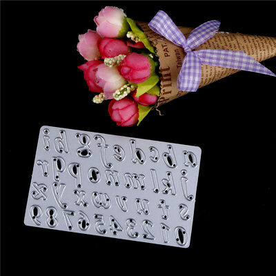 Letter and Number Metal Cutting Dies Scrapbooking Embossing Folder Paper Card MW