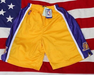 Nwt! Vintage Adidas Los Angeles Lakers Xxl 54 Gold Nba Kobe Swingman Shorts