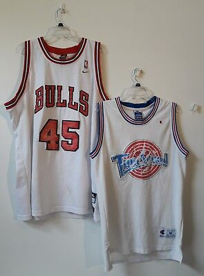 buy popular 2c7ac 6a667 Lot of 2 Vintage Michael Jordan Jerseys Nike #45 Champion Tune Squad  DISTRESSED!