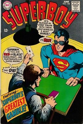 "Superboy 148 ""Superboy's Greatest Gamble"" FN $20"