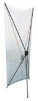 "MS255 Church X - Stand Banner Stand Aluminum Carbon Fiber 24"" W x 64""H w/ Case"