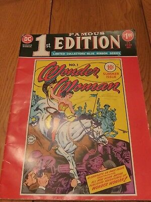 1975 Dc First Edition Wonder Woman Comic Near Mint Condition