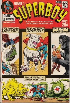 "Superboy 174 ""A Super Collection Of Super-Animals"" VF+ - $45"