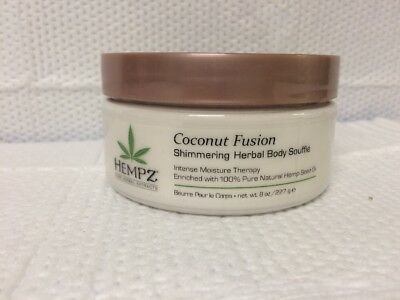 Hempz Coconut Fusion Shimmering Herbal Body Souffle Intense Moisture Therapy
