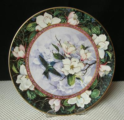 WHITE-KNECKED JACOBIN HUMMINGBIRD by Politowicz COLLECTOR PLATE Royal Doulton