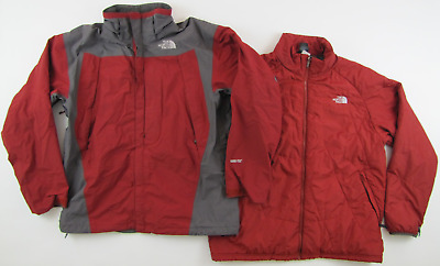5d74056891ed NORTH FACE VTG 90 s 3 In 1 Gore-Tex Mountain Light Jacket Green Mens ...