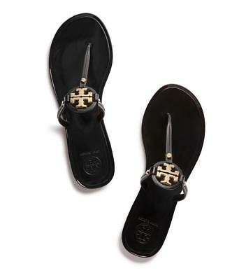 3737d19112a1 TORY BURCH MINI Miller Flat Sandals Black  9 -  69.99