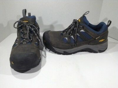 12f2f5b9a6 KEEN Mens Lexington Gray Leather Composite Toe Work Shoes Size 8 EE ZS-906