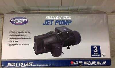 (New in Box) Superior Shallow Well Jet Pump 12.5 GPM 1/2 HP Cast Iron