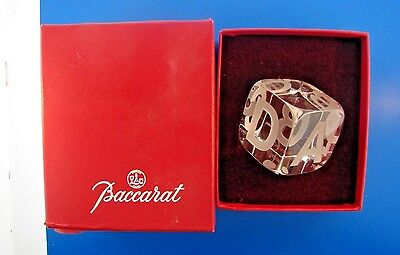 FOREVER Baccarat Glass Alphabet Rolling Dice w/Box